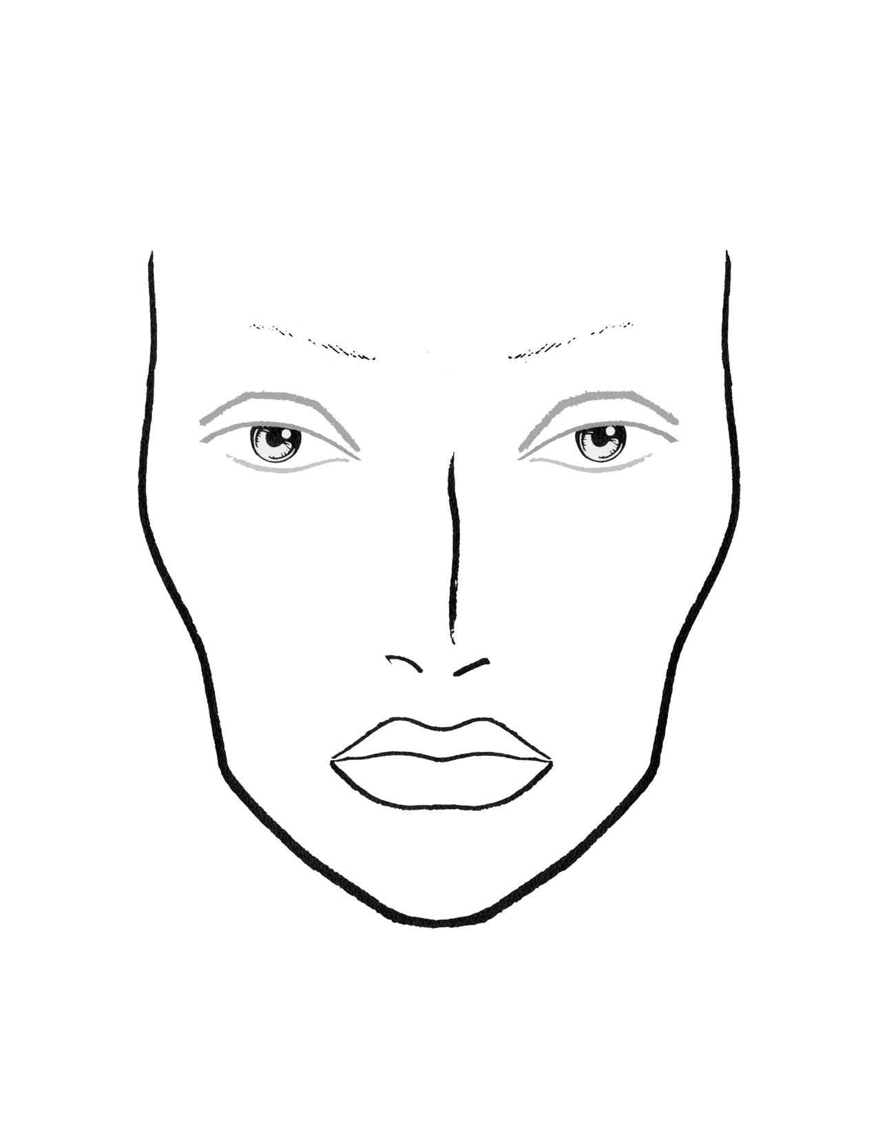 coloring face template face blank girl template coloring page coloring template face