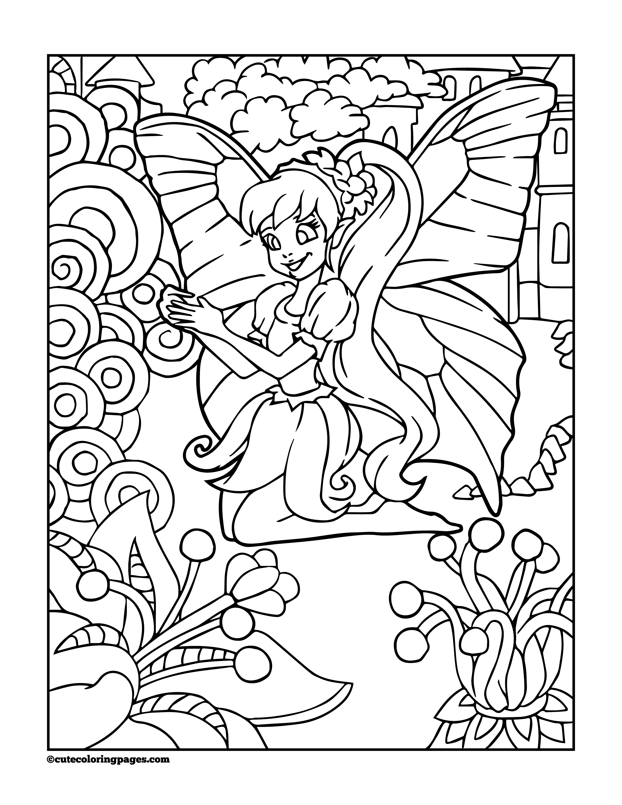 coloring fairies for kids beautiful free fairy coloring pages for boys and girls kids fairies coloring for