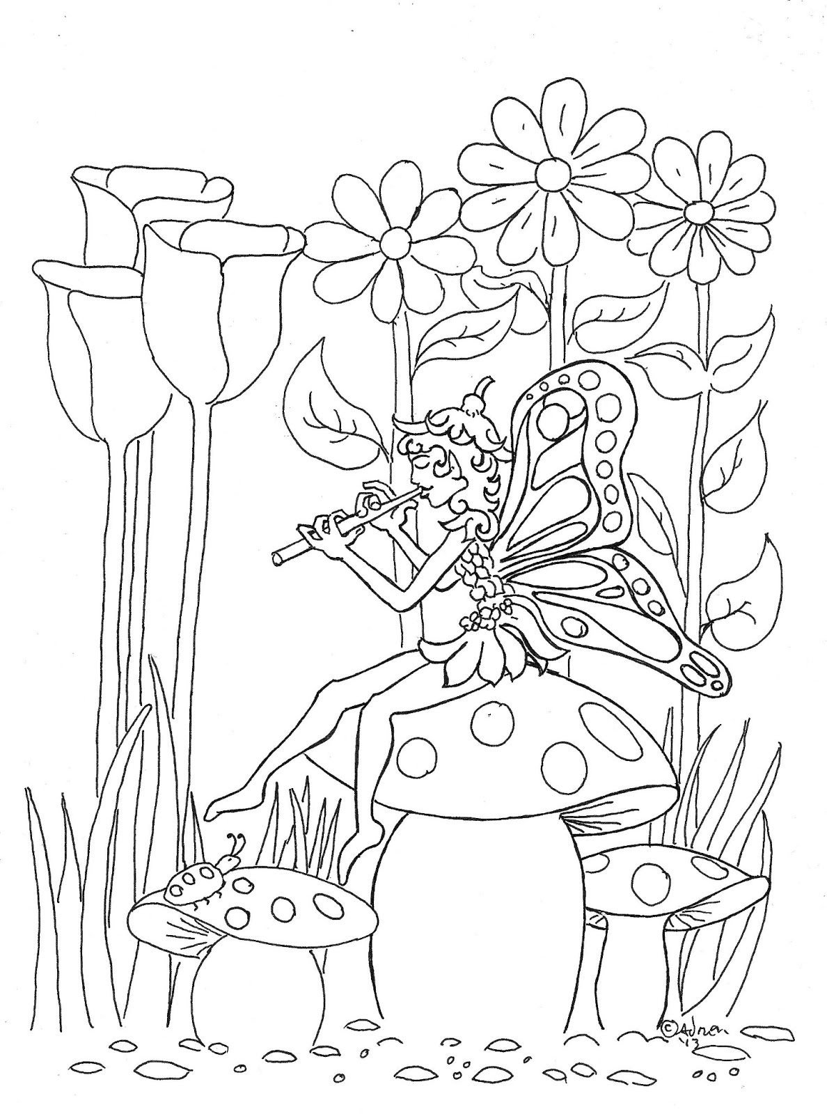 coloring fairies for kids coloring pages for kids by mr adron pixie fairy print for coloring fairies kids