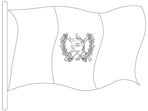 coloring flag guatemala world flags coloring pages guatemala flag coloring