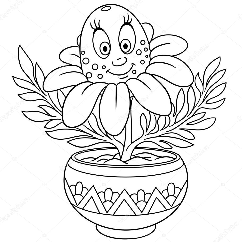 coloring flower spring flower coloring pages to download and print for free flower coloring