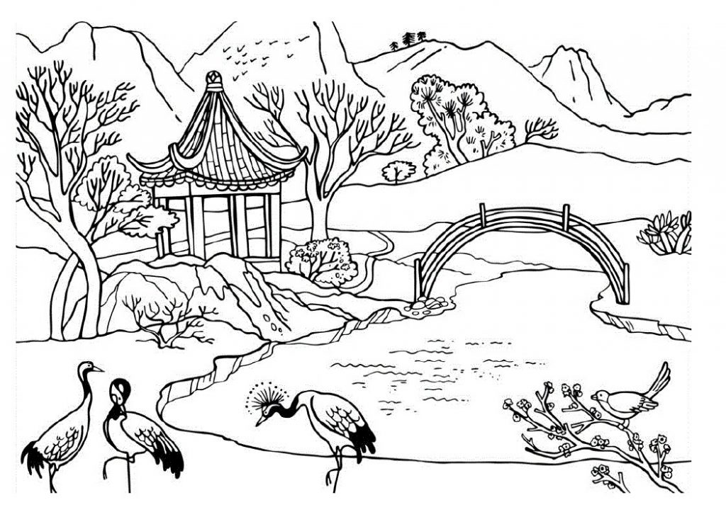 coloring for kids nature beautiful landscape view of nature coloring page color luna nature coloring for kids
