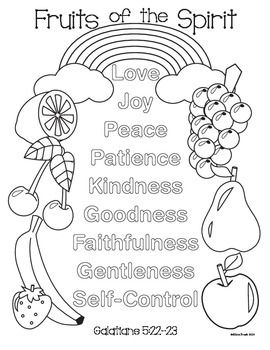 coloring fruit of the spirit fruit of the spirit coloring page and handwriting practice coloring the fruit spirit of