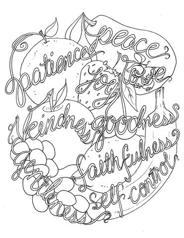 coloring fruit of the spirit fruit of the spirit coloring page for kids coloring pages fruit the spirit coloring of