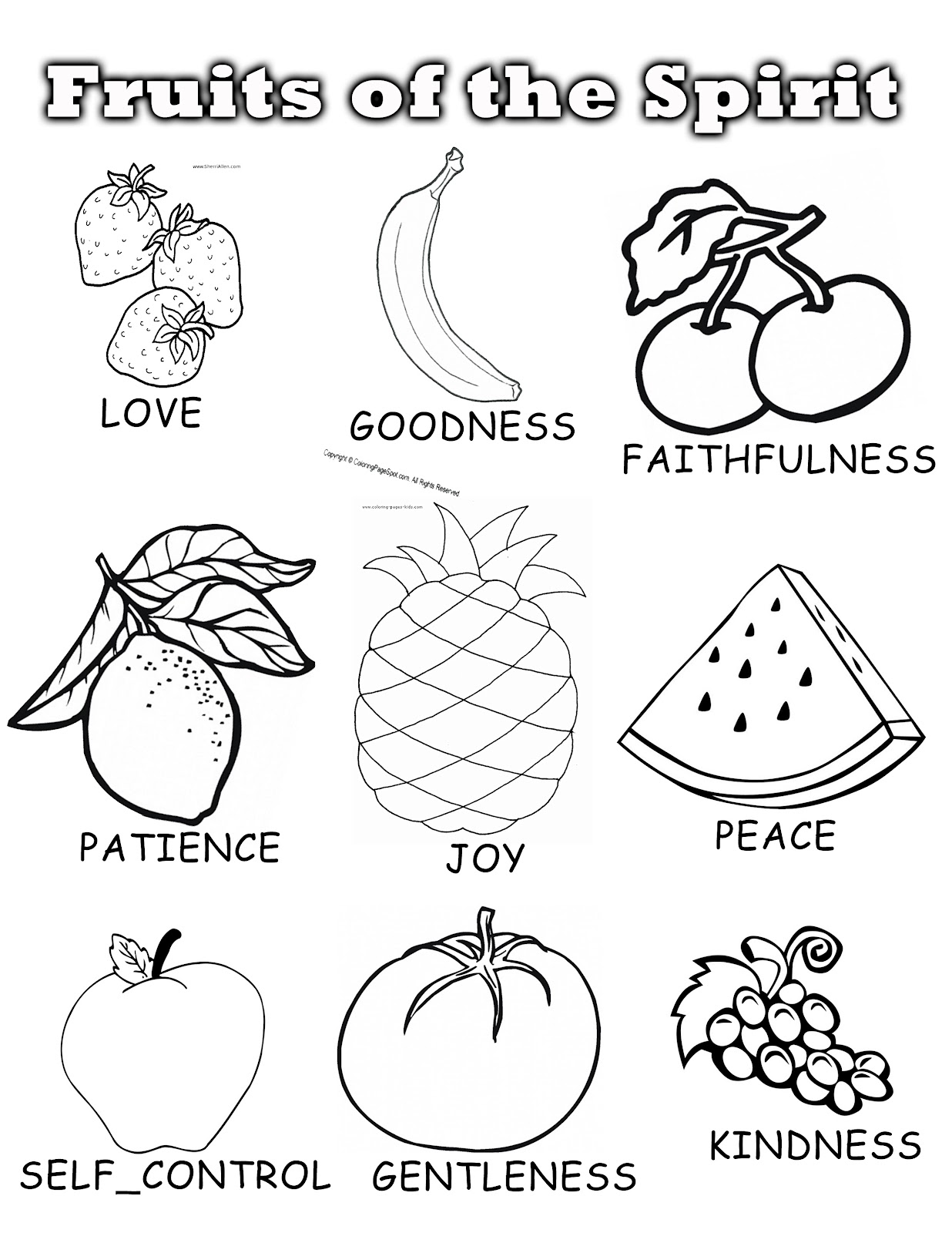 coloring fruit of the spirit fruit of the spirit coloring page kjv thekidsworksheet fruit of the coloring spirit