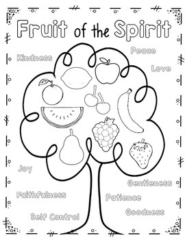 coloring fruit of the spirit fruit of the spirit for good characters coloring page spirit coloring of fruit the