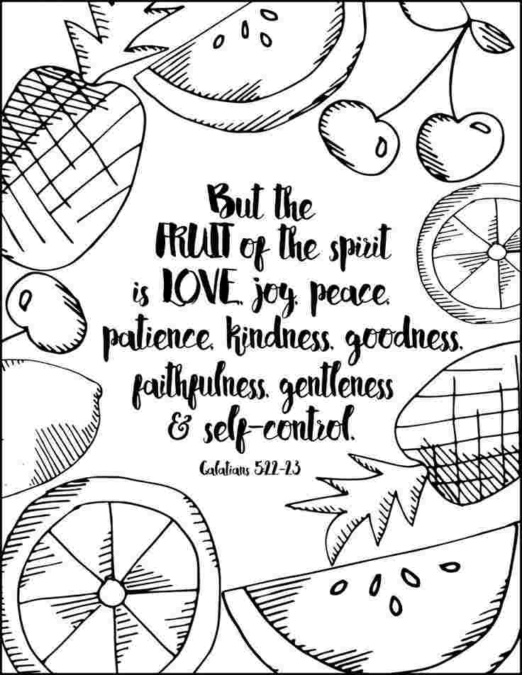 coloring fruit of the spirit fruit of the spirit printable coloring page bible craft spirit of fruit coloring the