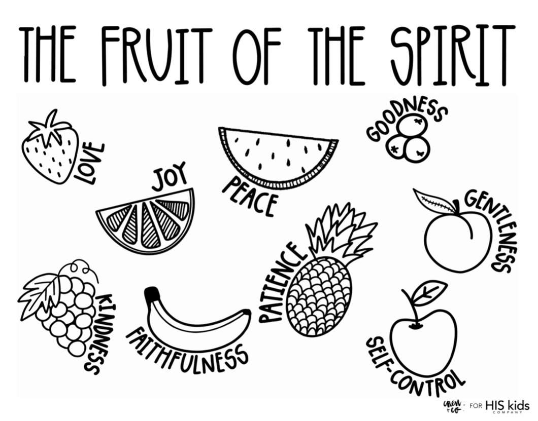 coloring fruit of the spirit fruits of the holy spirit coloring pages coloring home of fruit coloring the spirit