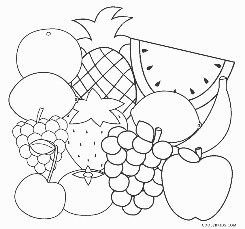 coloring fruit pages free printable fruit coloring pages for kids pages fruit coloring