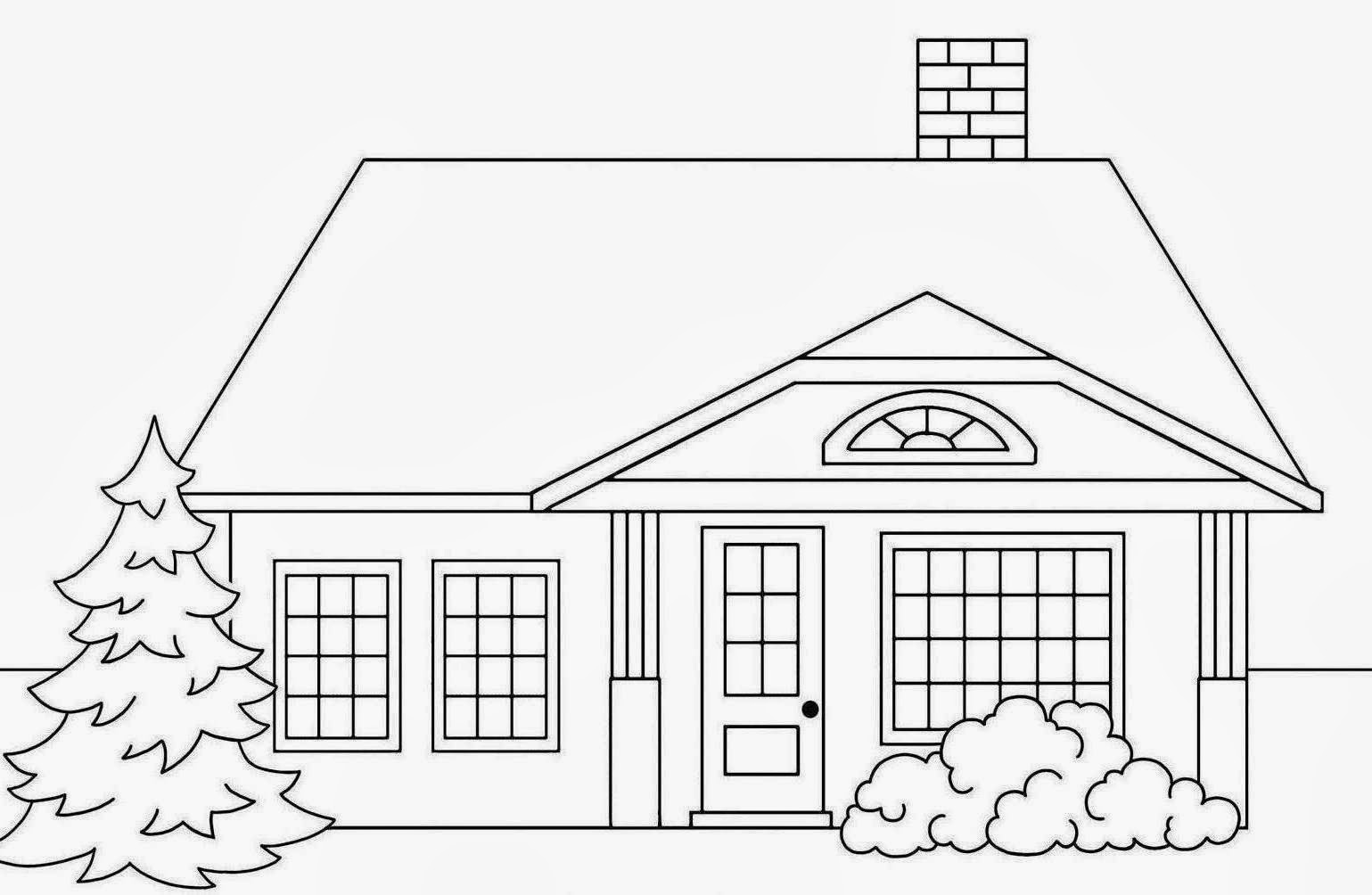 coloring house drawing sunny day house coloring page free clip art drawing house coloring