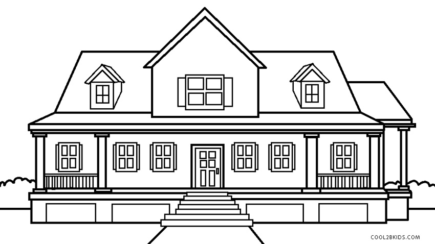 coloring house pictures beach house printable adult coloring page from favoreads house coloring pictures