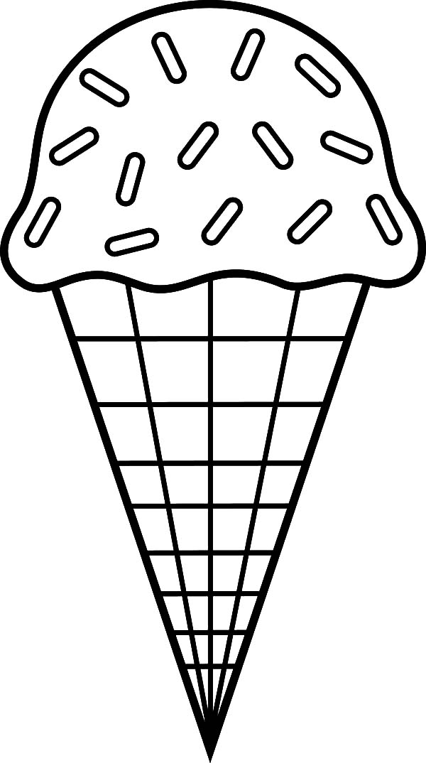coloring ice cream pages ice cream cone coloring page at getcoloringscom free pages cream ice coloring