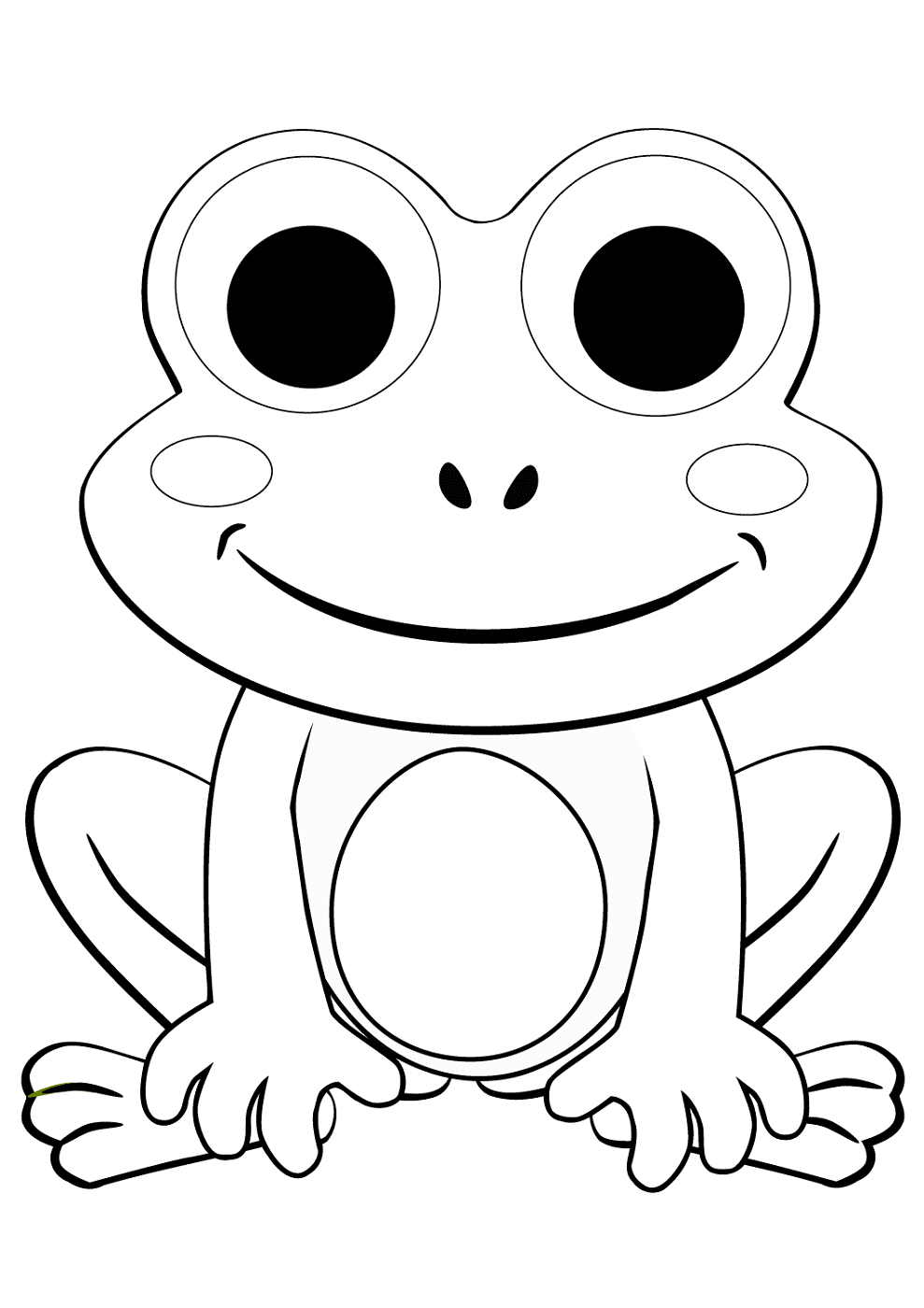 coloring image of a frog free printable frog coloring pages for kids cool2bkids image coloring frog of a