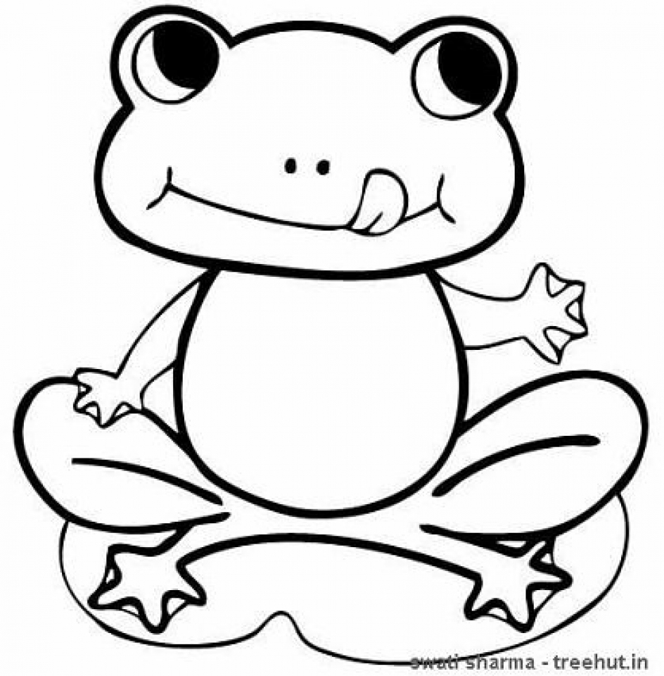 coloring image of a frog frogs coloring pages to download and print for free frog image coloring a of