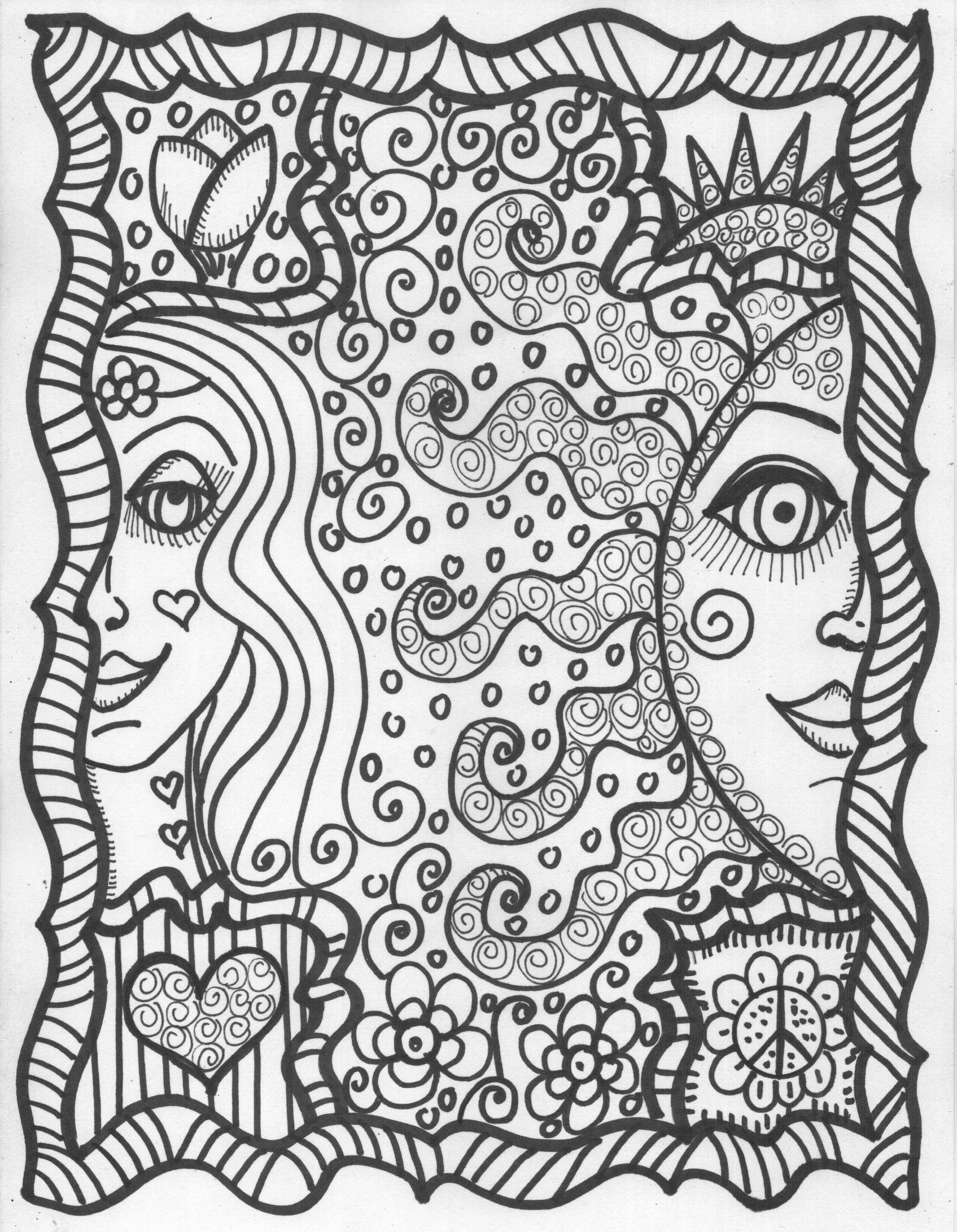 coloring images cool hippie coloring pages coloring home coloring images