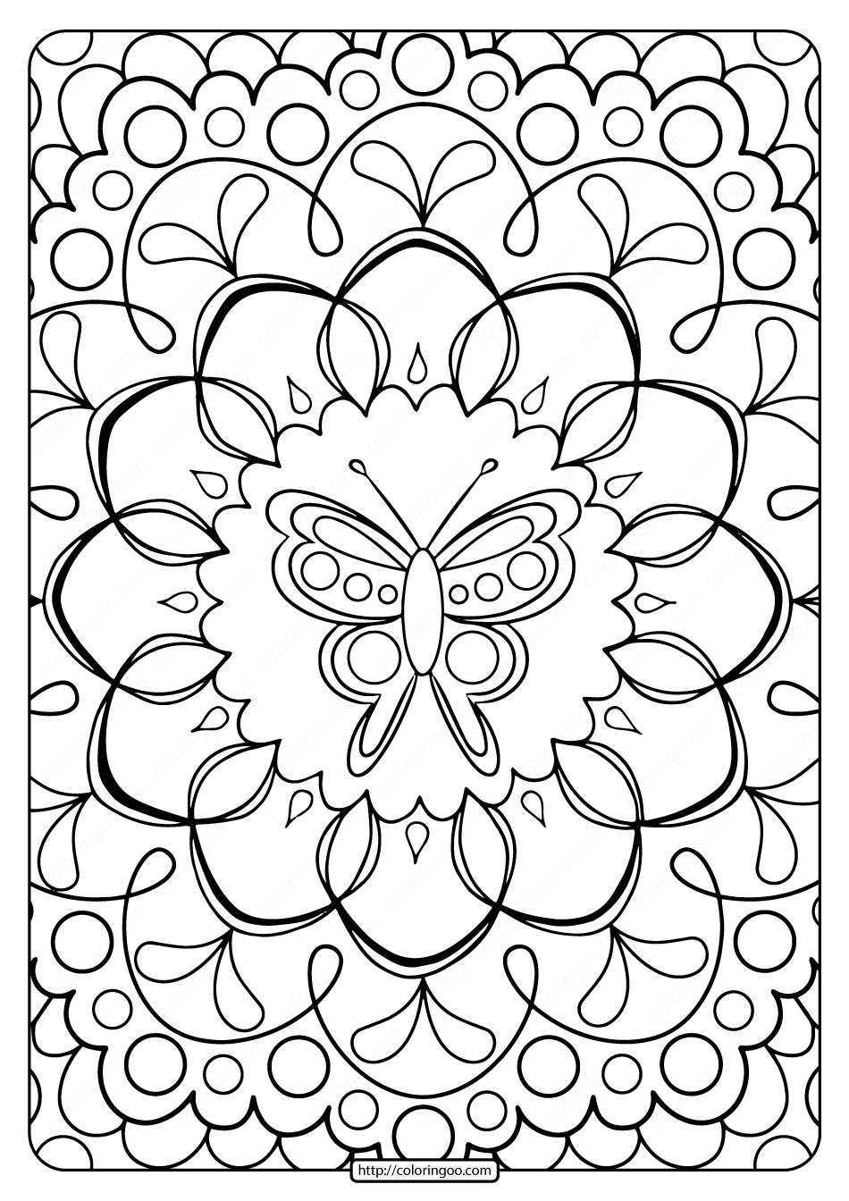 coloring images free printable butterfly adult coloring pages images coloring
