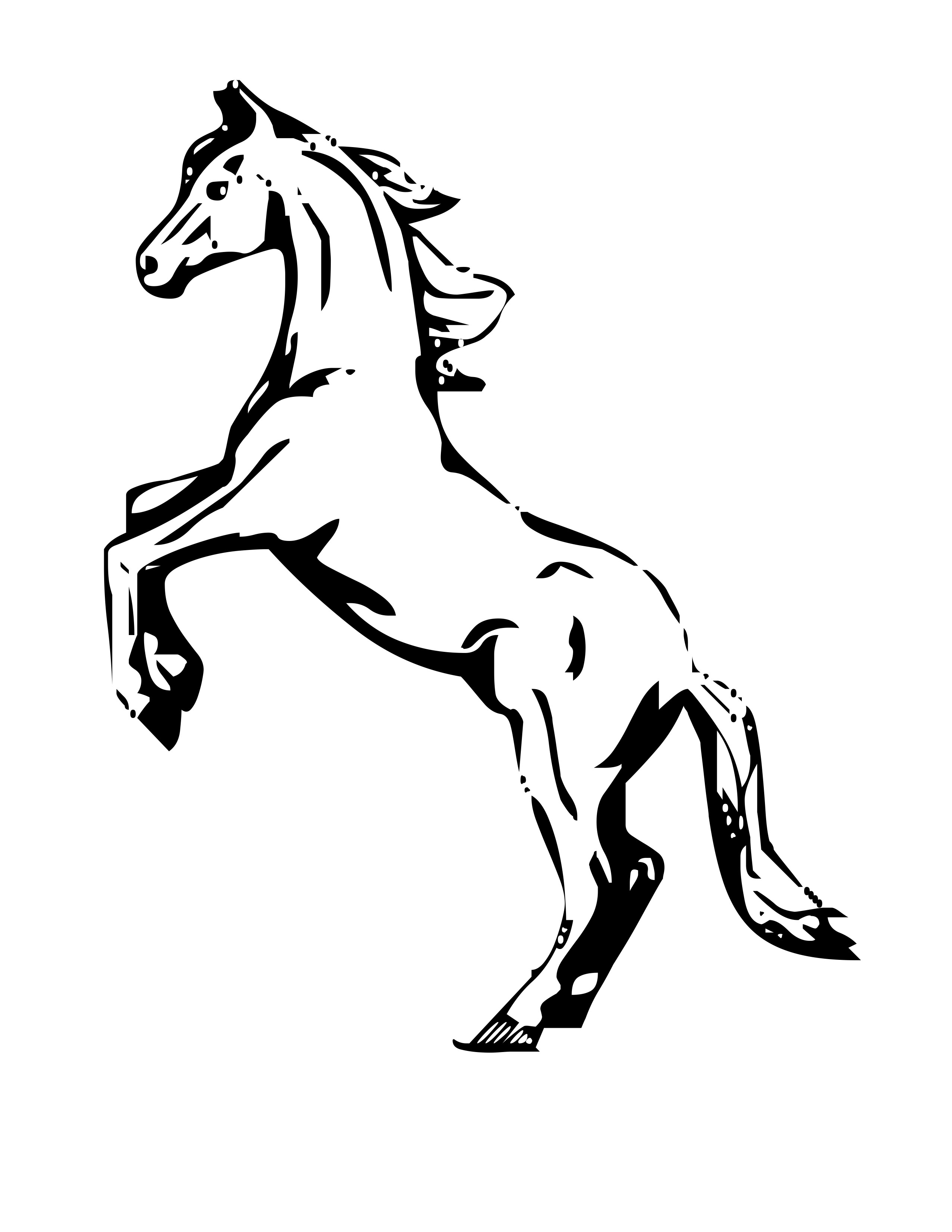 coloring images horse coloring page toy horse coloring images horse