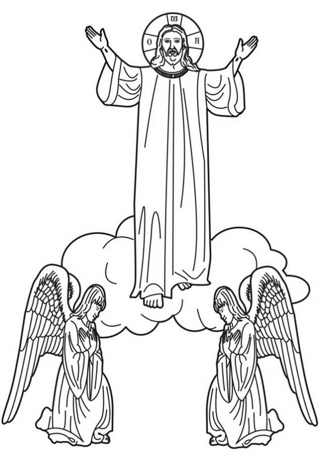 coloring jesus ascension of jesus christ coloring pages family holiday coloring jesus