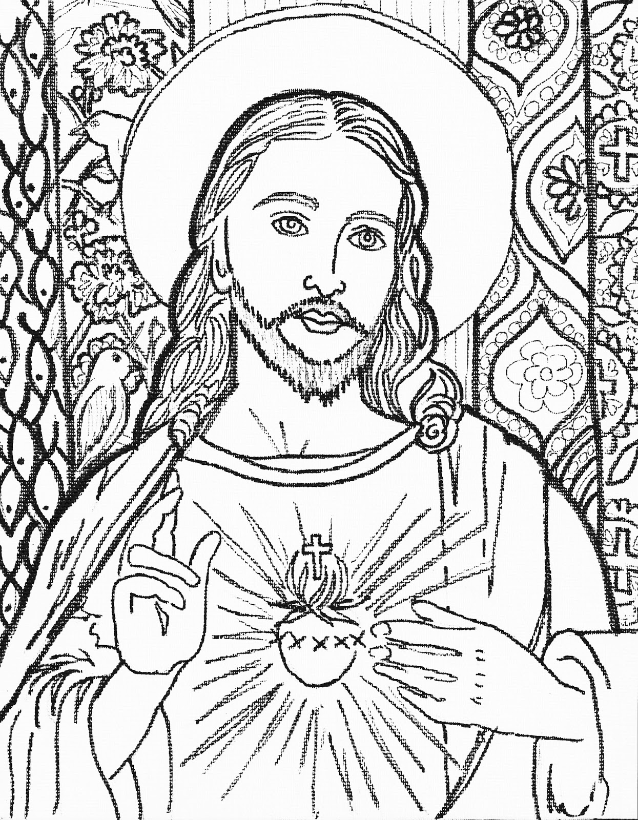 coloring jesus fight of faith bible coloring jesus free coloring jesus coloring