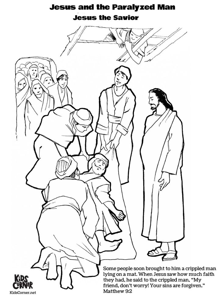 coloring jesus heals the paralytic jesus heals the paralyzed man colouring pages at heals jesus coloring the paralytic