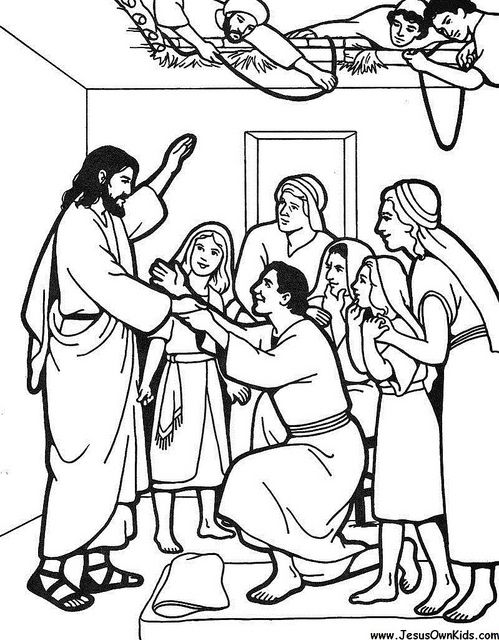 coloring jesus heals the paralytic jesus knocking at the door coloring pages at getcolorings paralytic the jesus heals coloring