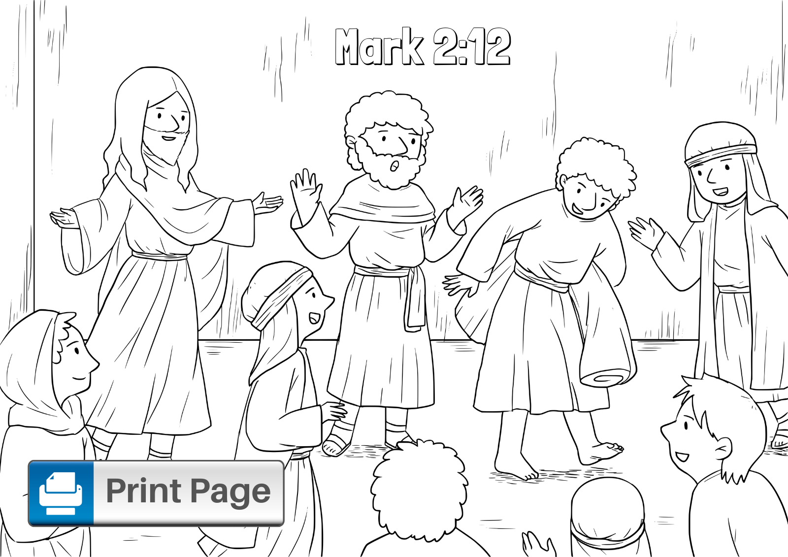 coloring jesus heals the paralytic lovely jesus heals the paralyzed man coloring page top the paralytic jesus heals coloring