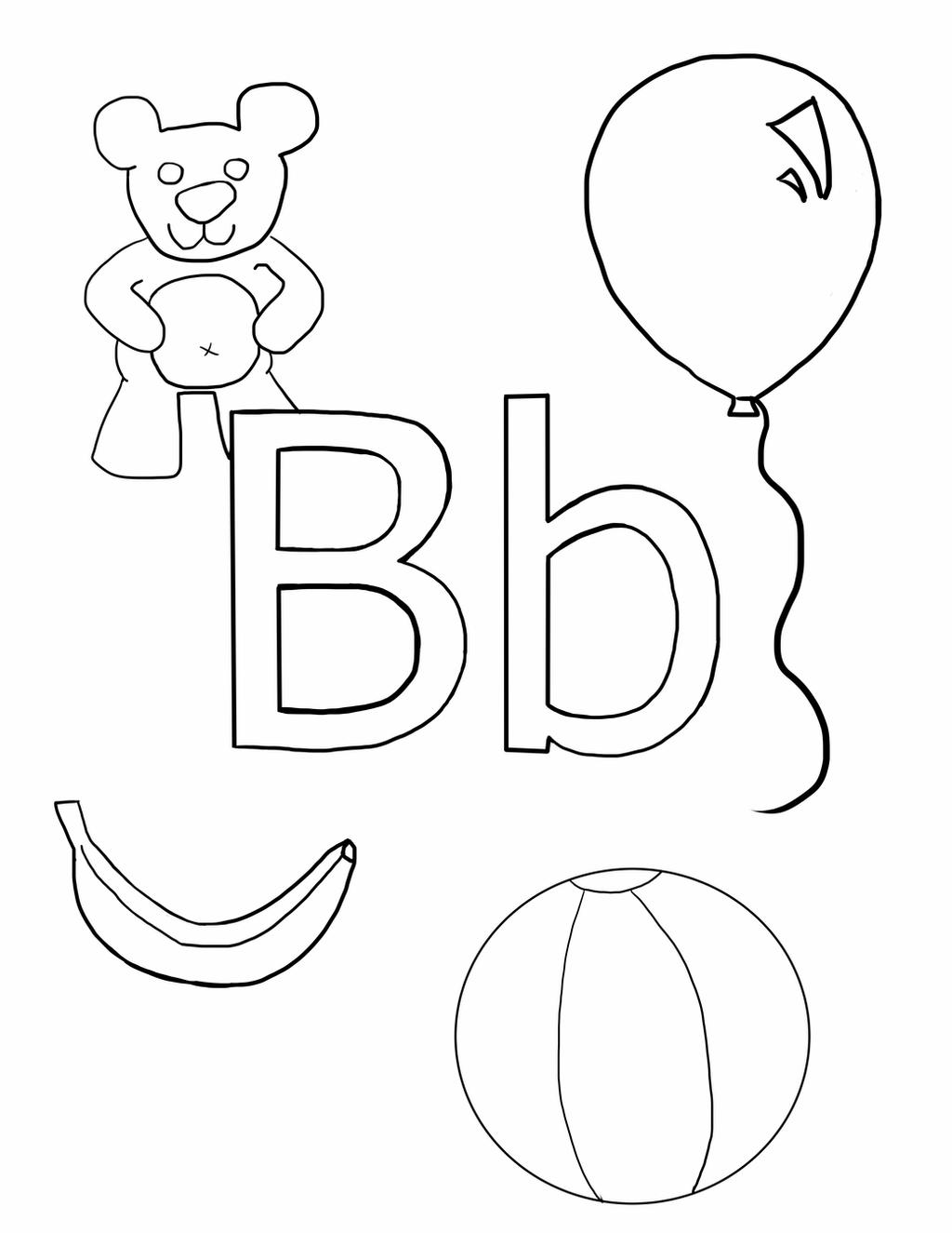 coloring letter b pictures letter b coloring pages preschool and kindergarten b coloring pictures letter