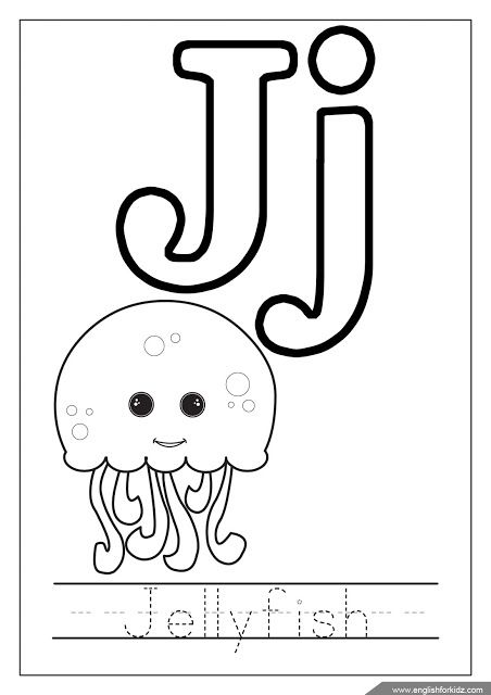 coloring letter j letter j with plants coloring page free printable letter coloring j