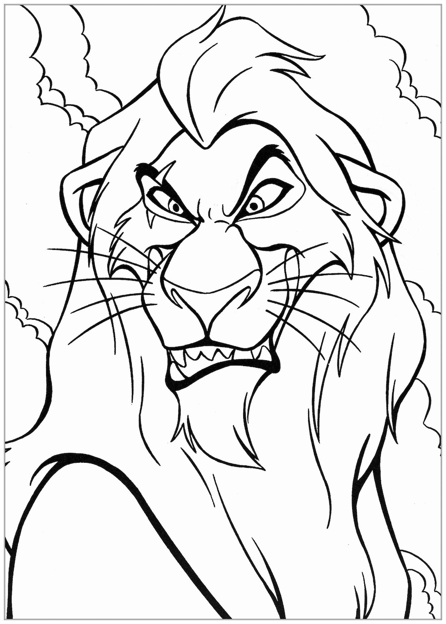 coloring lion king colour drawing free wallpaper disney cartoon the lion king lion coloring