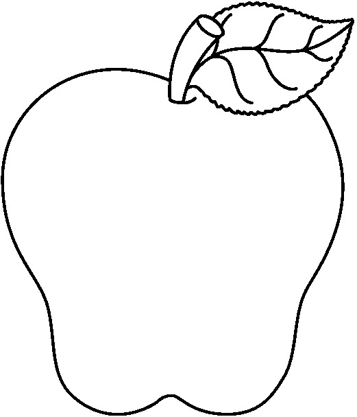 coloring mango black and white apple coloring fruit clip art at clkercom vector clip black white and mango coloring