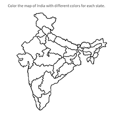 coloring map of india how to draw india map map coloring of india