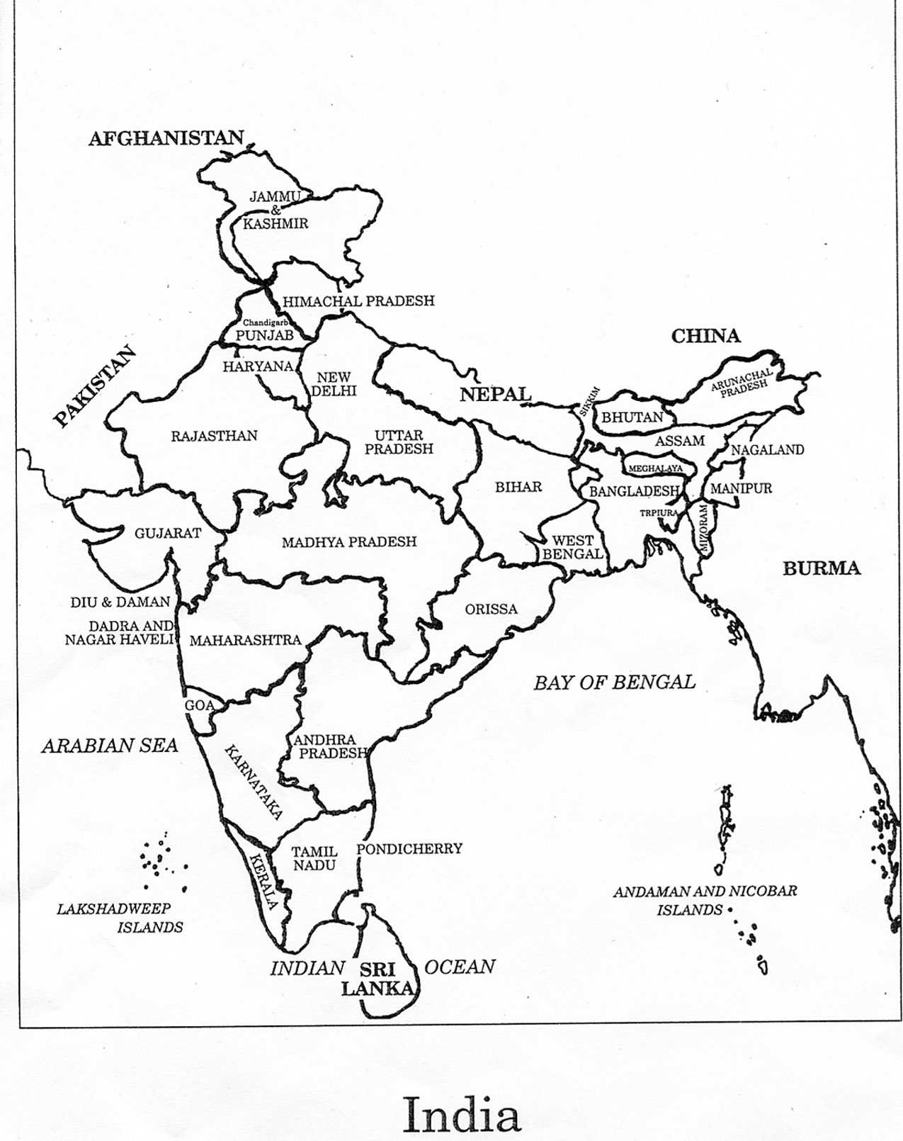 coloring map of india india map coloring page coloring home coloring of map india