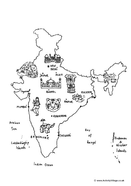 coloring map of india map of india for kids coloring home map india coloring of