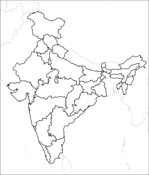 coloring map of india outline map of india india map map coloring india of