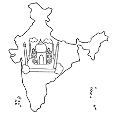 coloring map of india top 10 free printable india coloring pages online coloring india of map