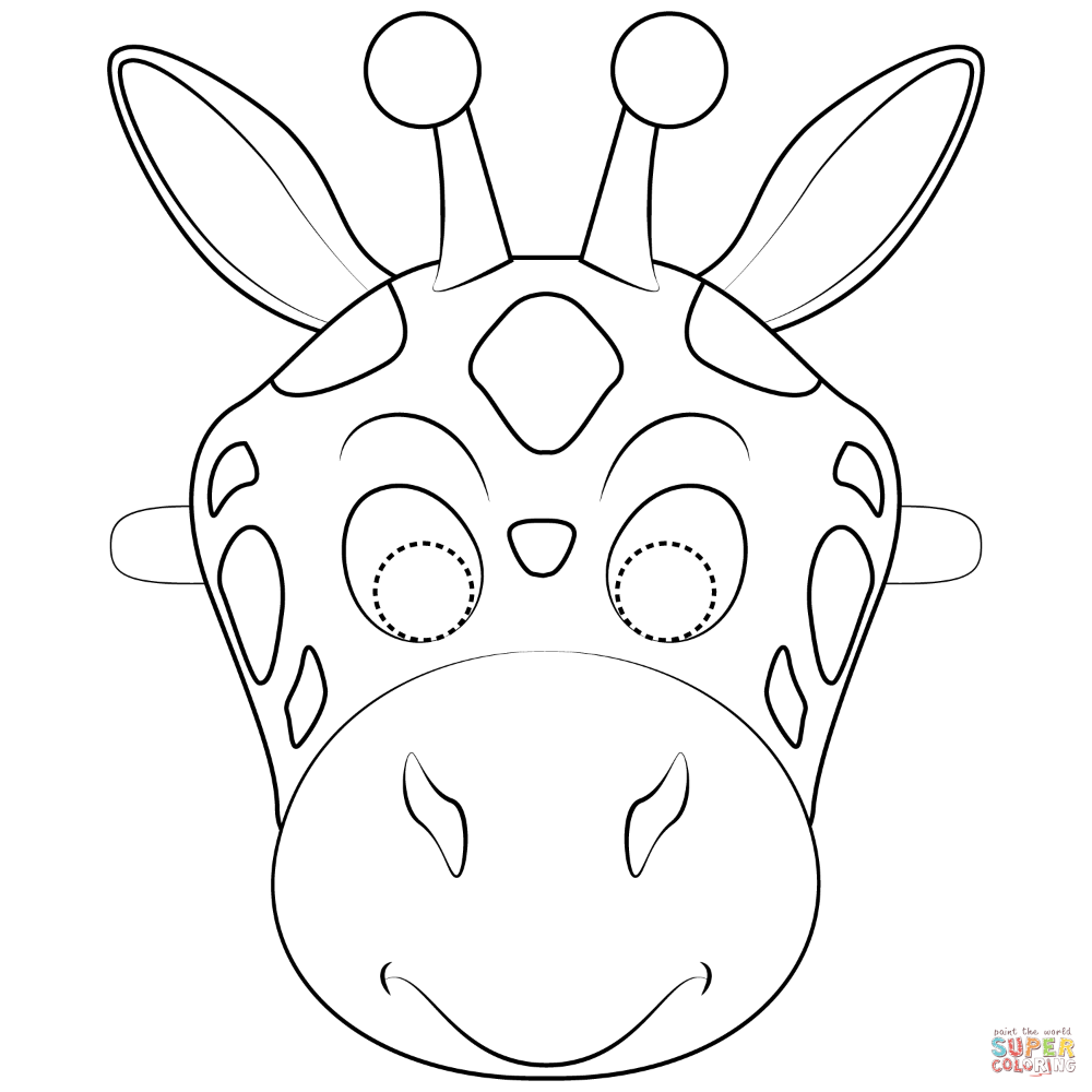 coloring mask animal animal face coloring pages at getdrawings free download animal coloring mask