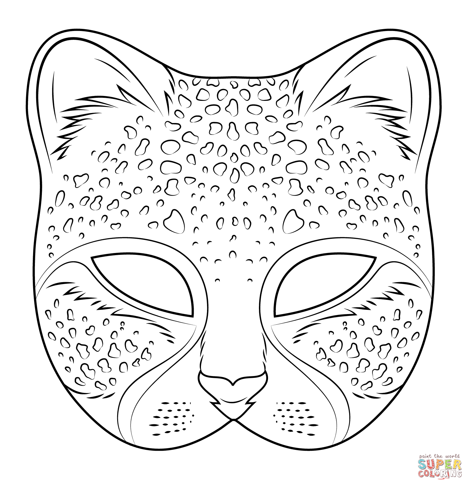 coloring mask animal animal mask printable clipart best coloring mask animal