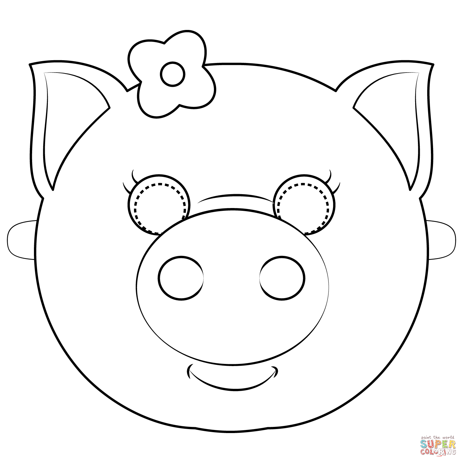 coloring mask animal pig mask coloring page free printable coloring pages coloring animal mask