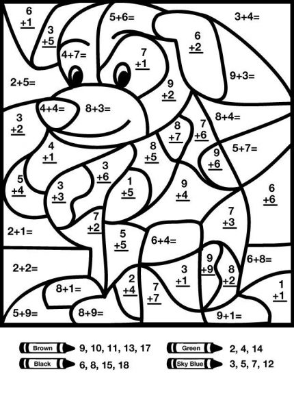 coloring math 1st grade addition color by number with images 2nd grade math coloring 1st grade math