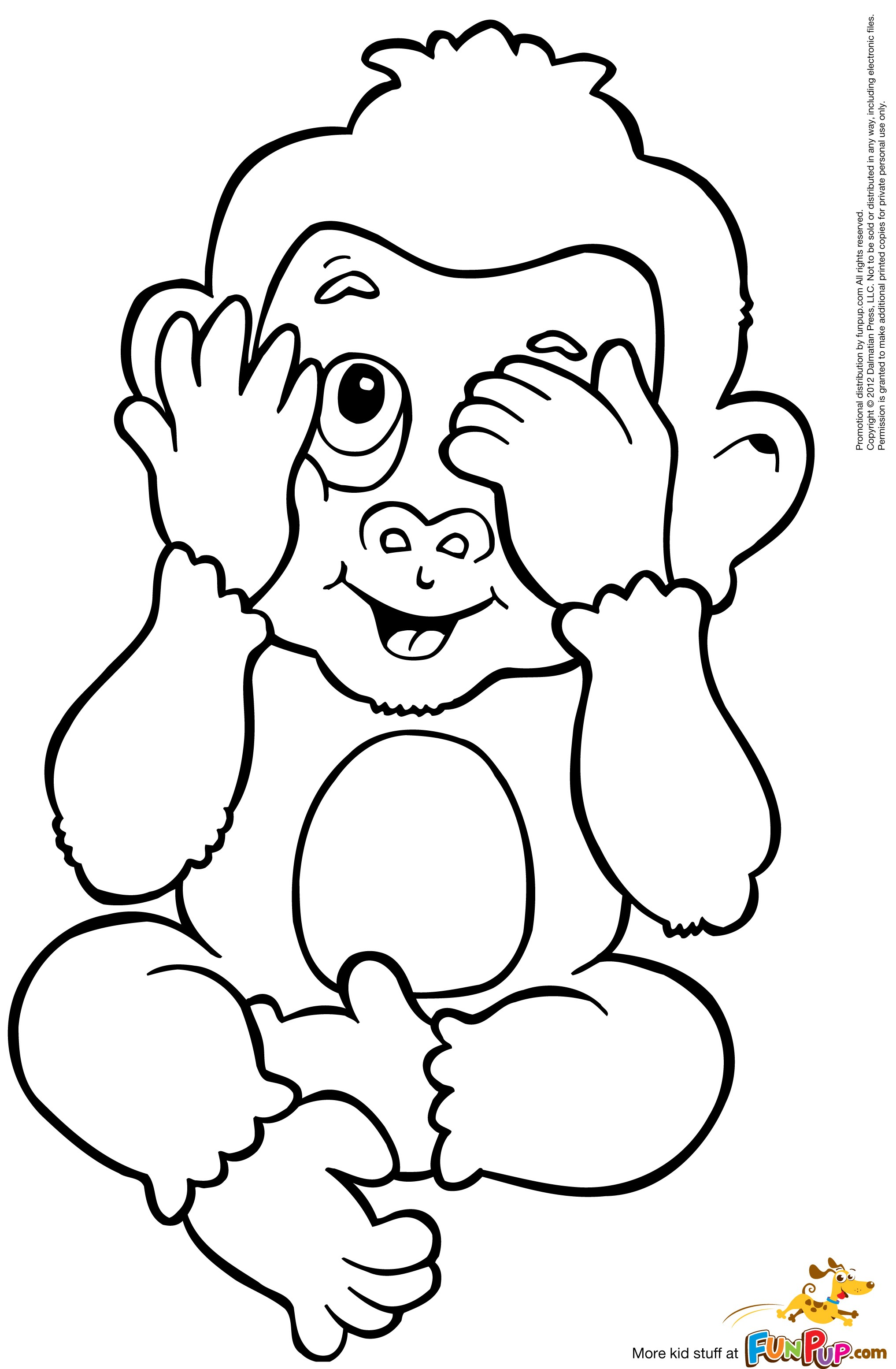 coloring monkey printable coloring pages for kids coloring printable monkey