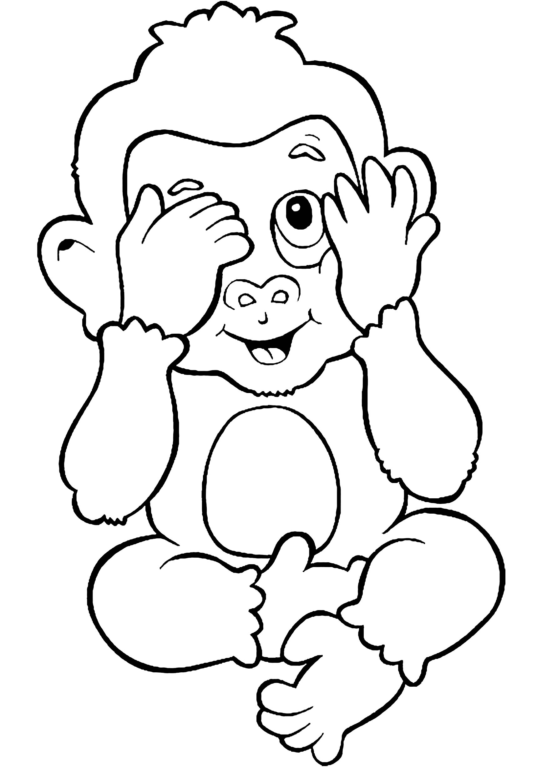coloring monkey printable cute coloring pages getcoloringpagescom monkey printable coloring