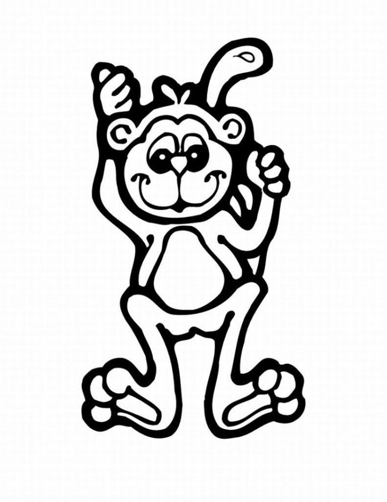 coloring monkey printable free printable monkey coloring pages for kids jeffersonclan printable monkey coloring