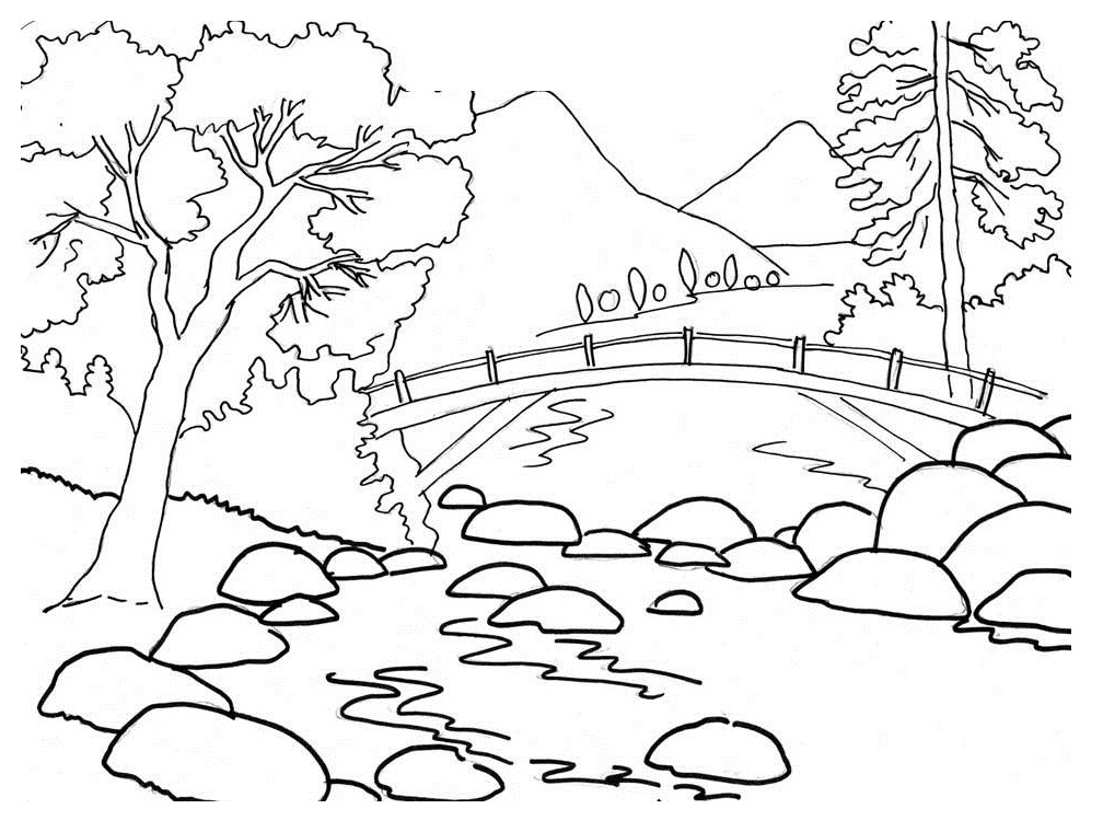 coloring nature images nature coloring pages for kids coloring images nature