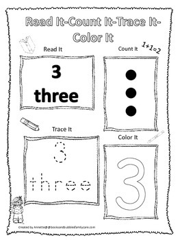 coloring number 3 worksheets for preschool numbers read count trace color the number 3 preschool for number worksheets coloring 3 preschool