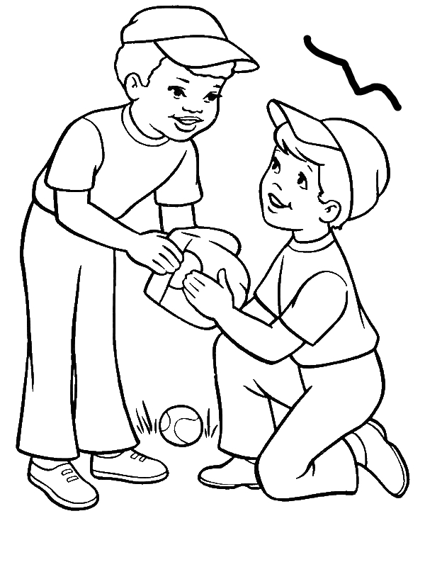 coloring outline of a boy coloring page outline of a boy with a picture stock vector a outline coloring boy of