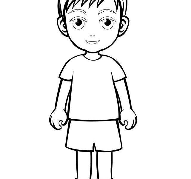 coloring outline of a boy little boy coloring page boy coloring of a outline