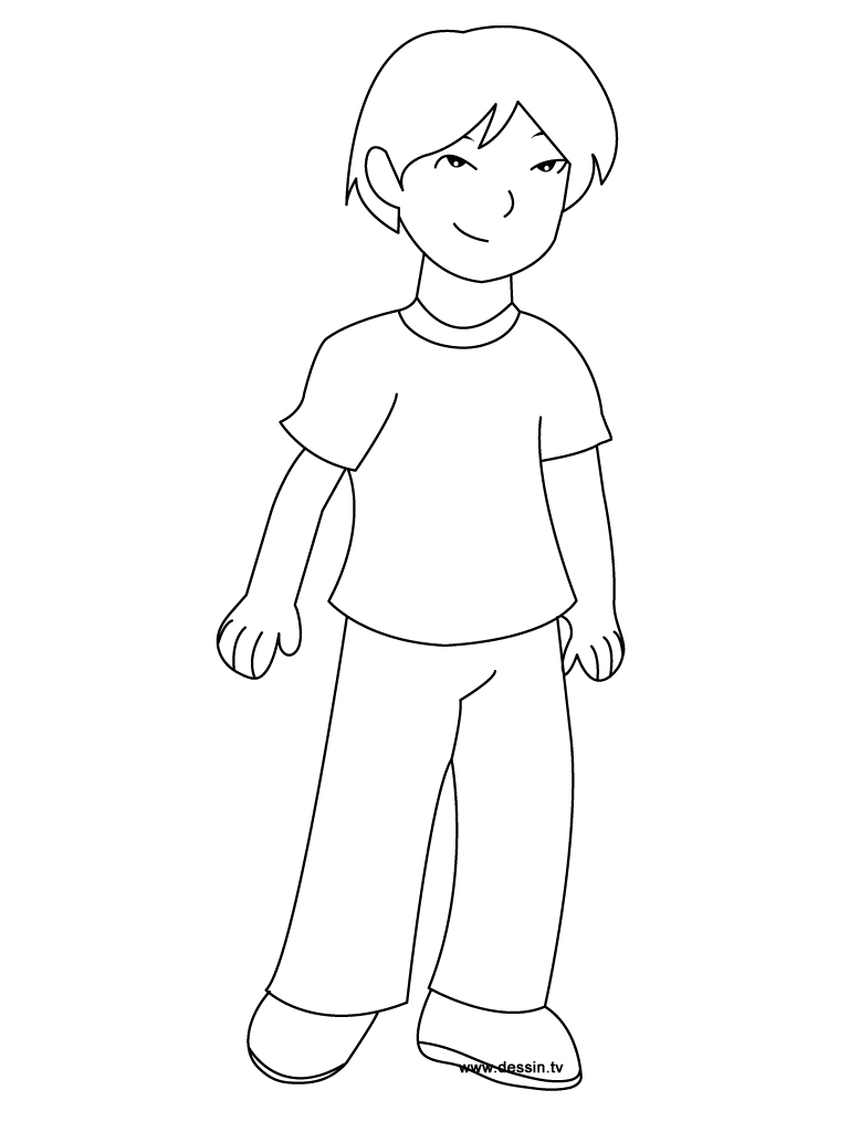coloring outline of a boy nice boy running school outline coloring page cute easy boy a outline of coloring