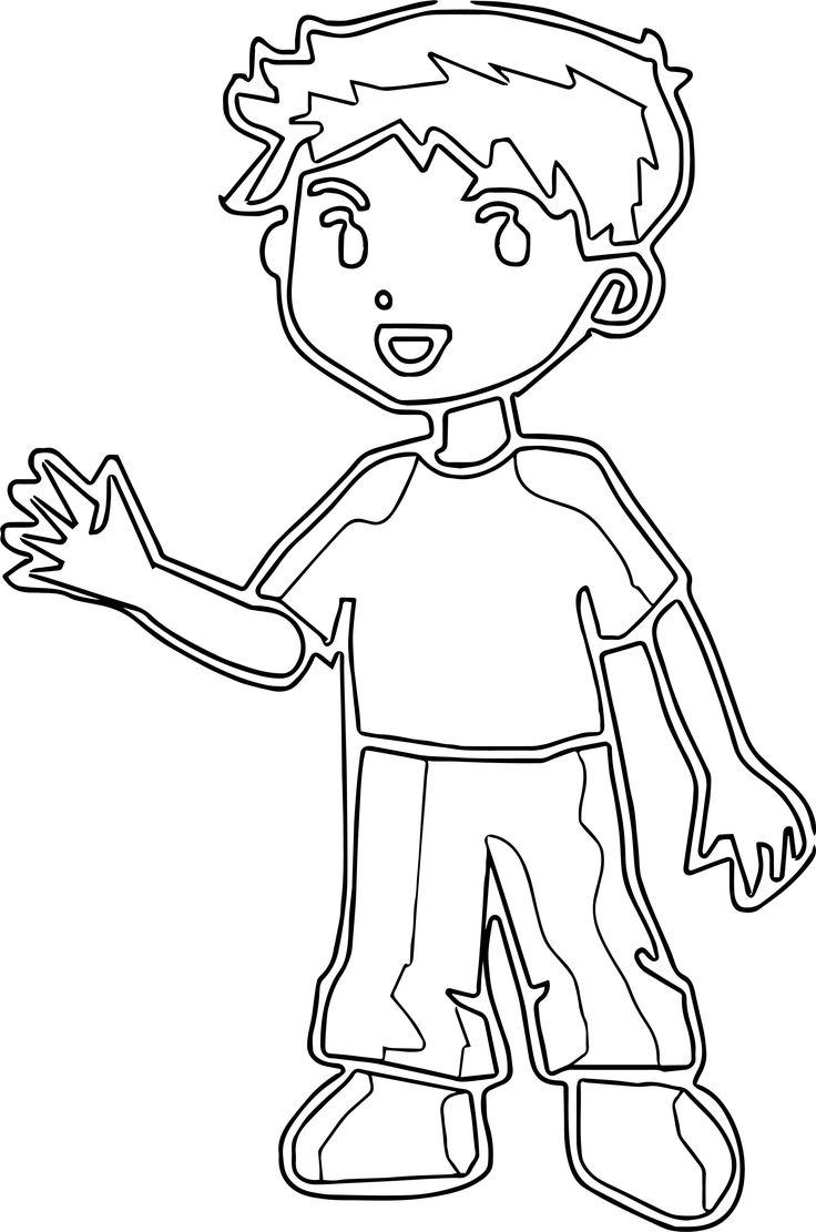coloring outline of a boy outline of a boy clipartsco of boy outline coloring a