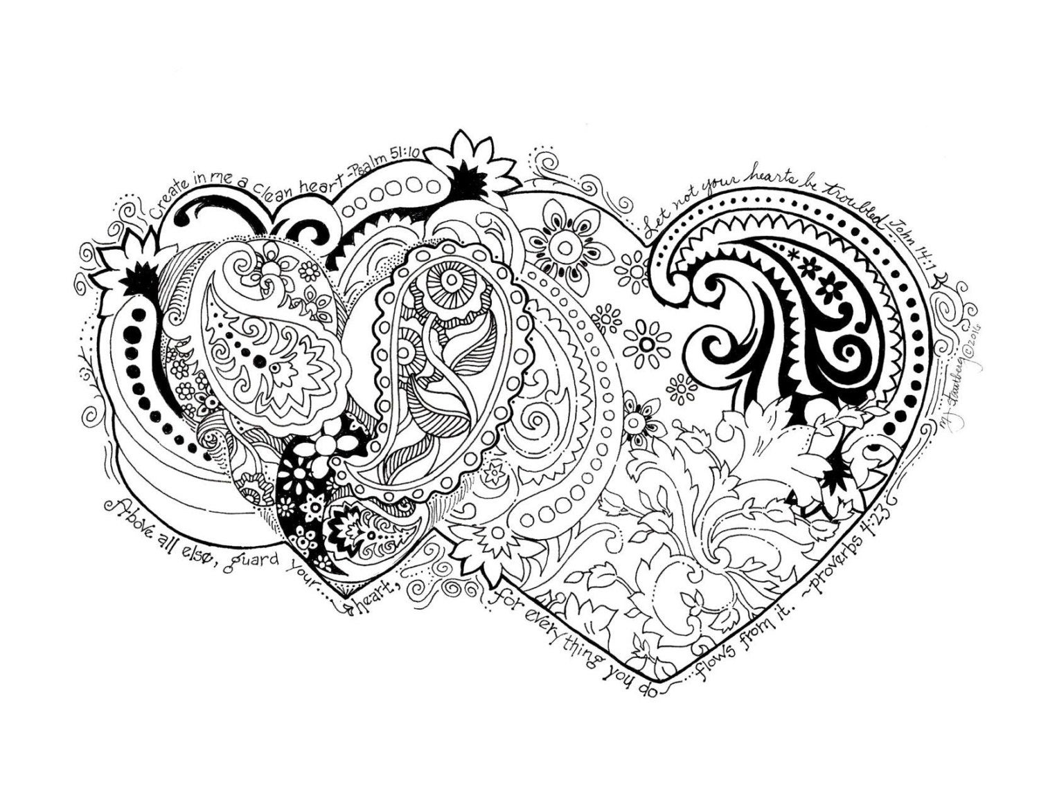 coloring page creator coloring page hand drawn create in me a clean heart etsy coloring creator page