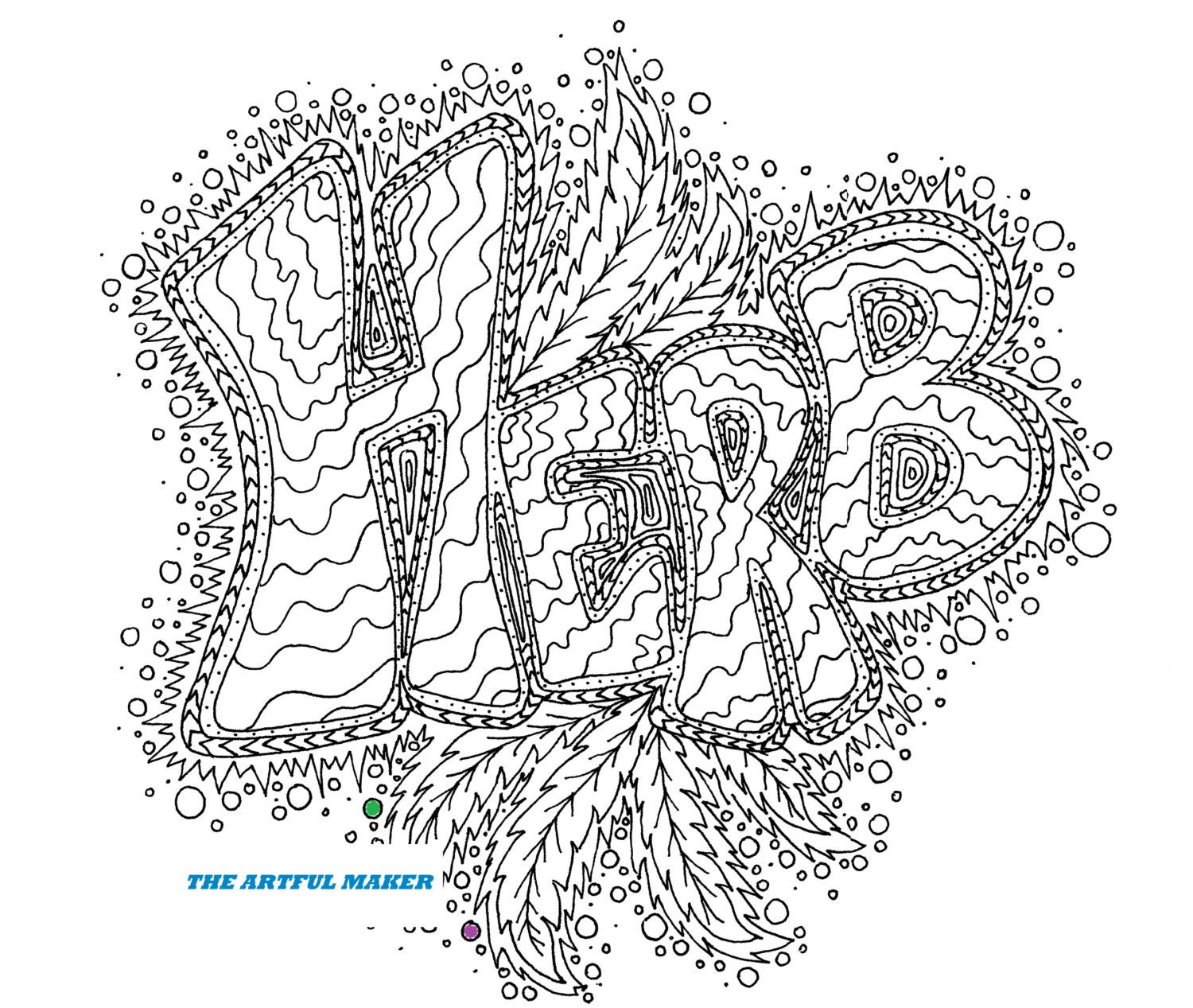 coloring page creator herb adult coloring page by the artful maker etsy page creator coloring
